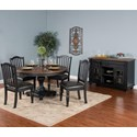 Sunny Designs Bourbon Trail Casual Dining Room Group - Item Number: PJ Dining Room Group 5