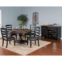 Sunny Designs Bourbon Trail Casual Dining Room Group - Item Number: PJ Dining Room Group 6
