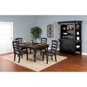 Sunny Designs Bourbon Trail Casual Dining Room Group - Item Number: PJ Dining Room Group 7