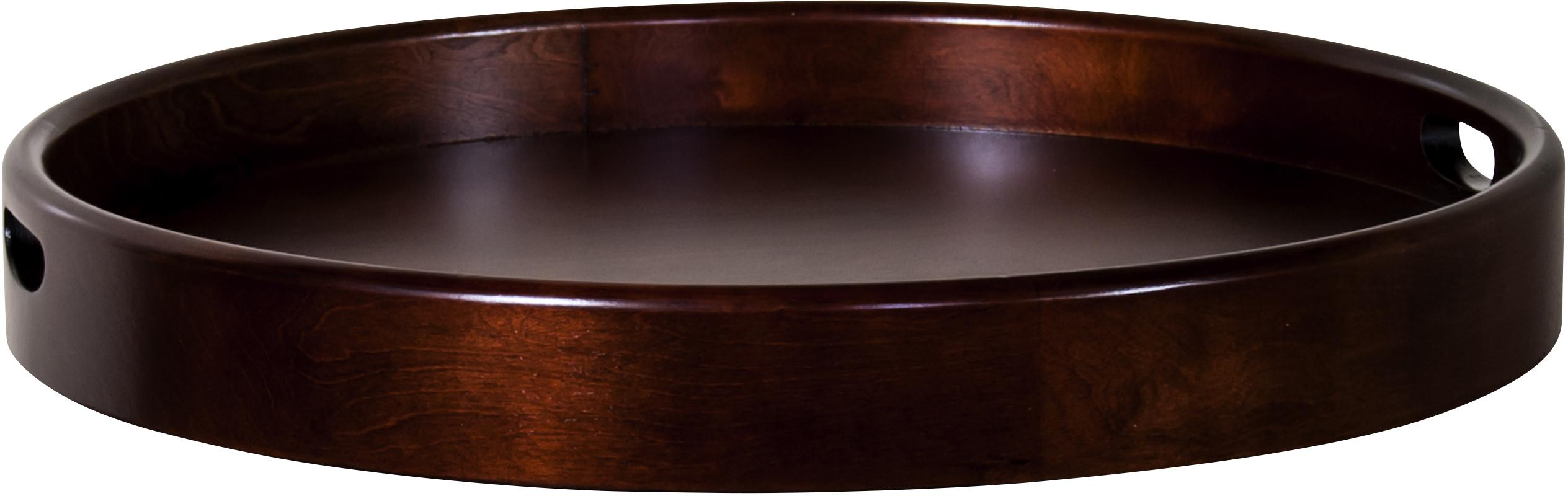 Sunny Designs Cappuccino Round Tray - Item Number: 2235CA