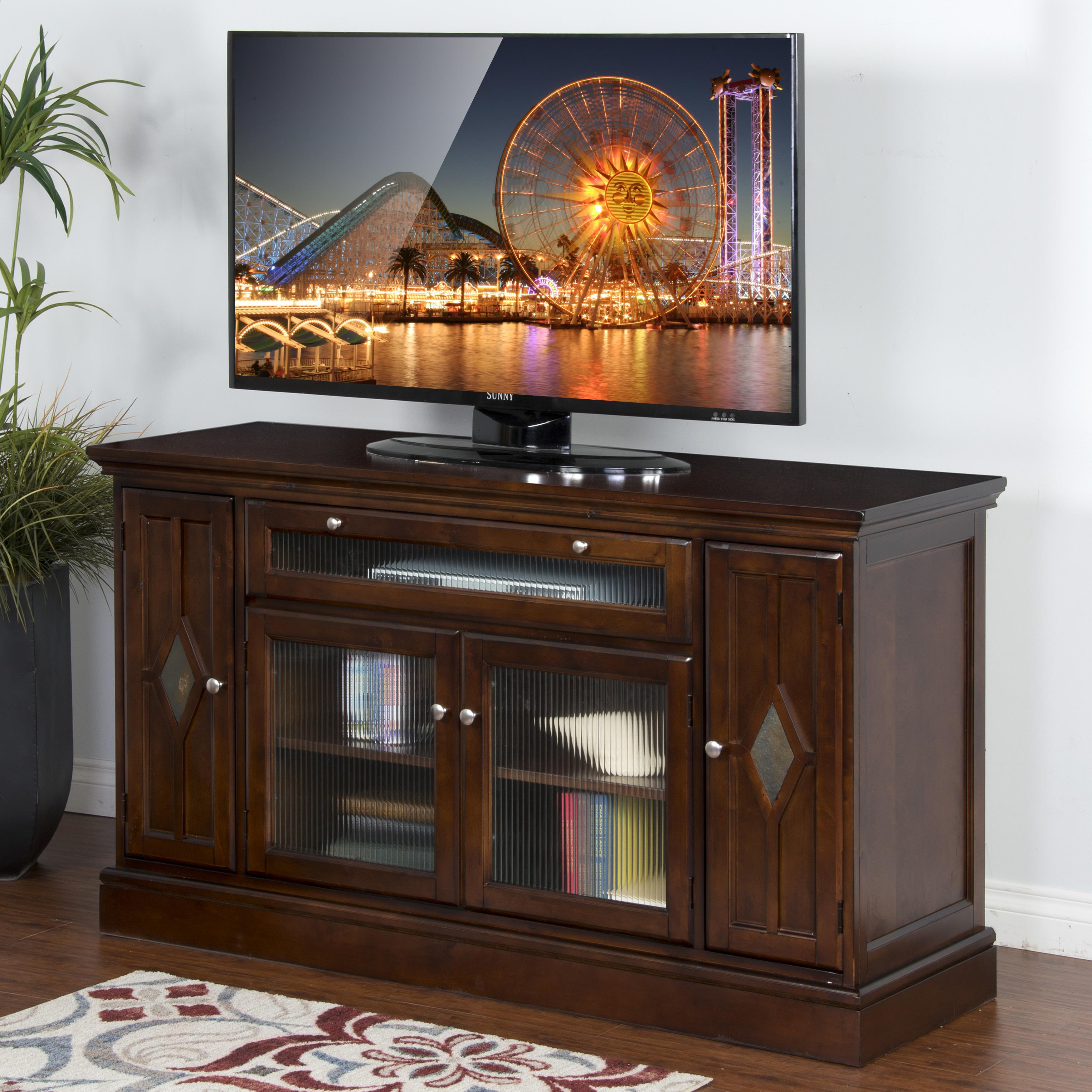 Sunny Designs Cappuccino Counter Height TV Console - Item Number: 2735CA
