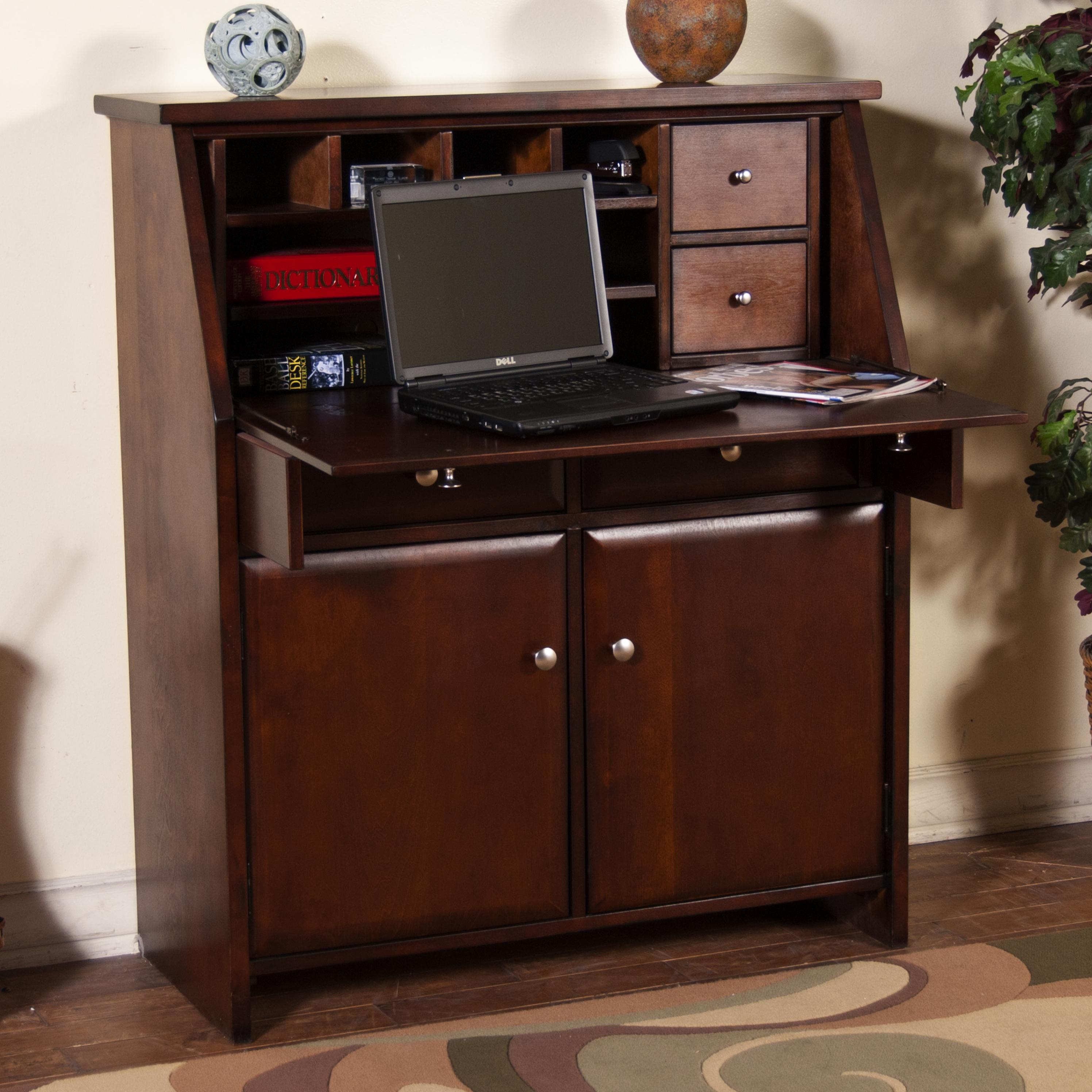 Market Square Cappuccino Scottsville Drop Leaf Desk - Item Number: 2939CA