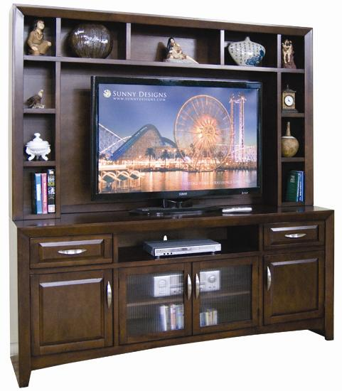 Sunny Designs Cappuccino Wide TV Cabinet - Item Number: 3332CA-TC+H