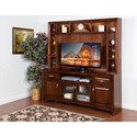 Sunny Designs Cappuccino Wide TV Display Storage Cabinet