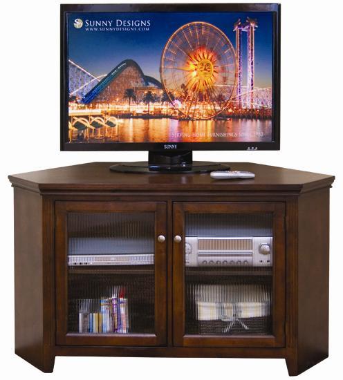 Sunny Designs Cappuccino Corner TV Console - Item Number: 3399CA