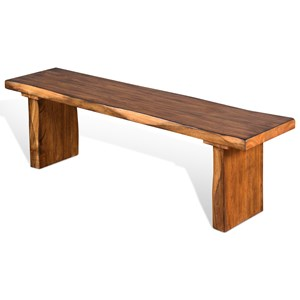 Sunny Designs Carey Live Edge Dining Bench