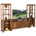 Sunny Designs Carey Live Edge Media Stand & 2 Piers - Item Number: 3592NW-64+2xP