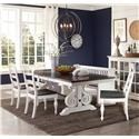 Sunny Designs Carriage House 5 Piece Table and Chair Set - Item Number: 1041+1432x4EC