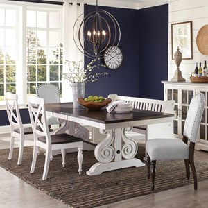 6 Pc Dining Set w/ Bench