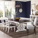 Sunny Designs Carriage House 6 Pc Dining Set w/ Bench - Item Number: 1041EC+2X1673ED+2X1432EC