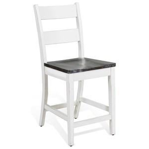"24"" Ladderback Barstool"