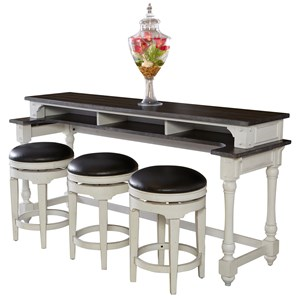 Counter Height Console Table + Bar Stools