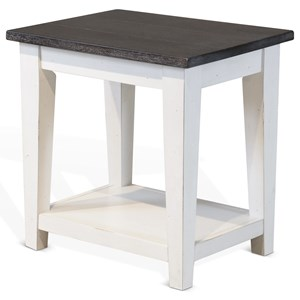 Chair Side Table w/ Shelf