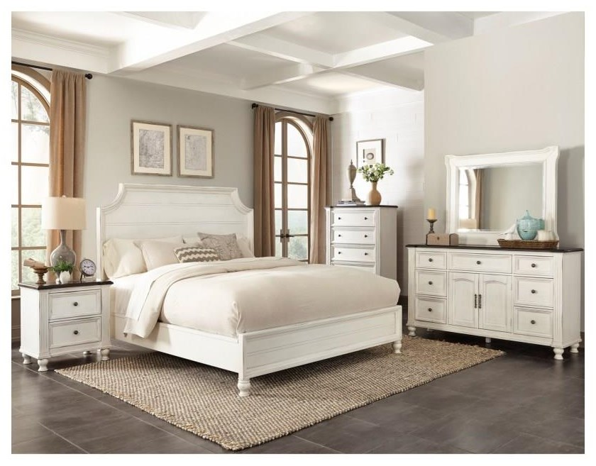 carriage house solid wood queen bedroom set all white
