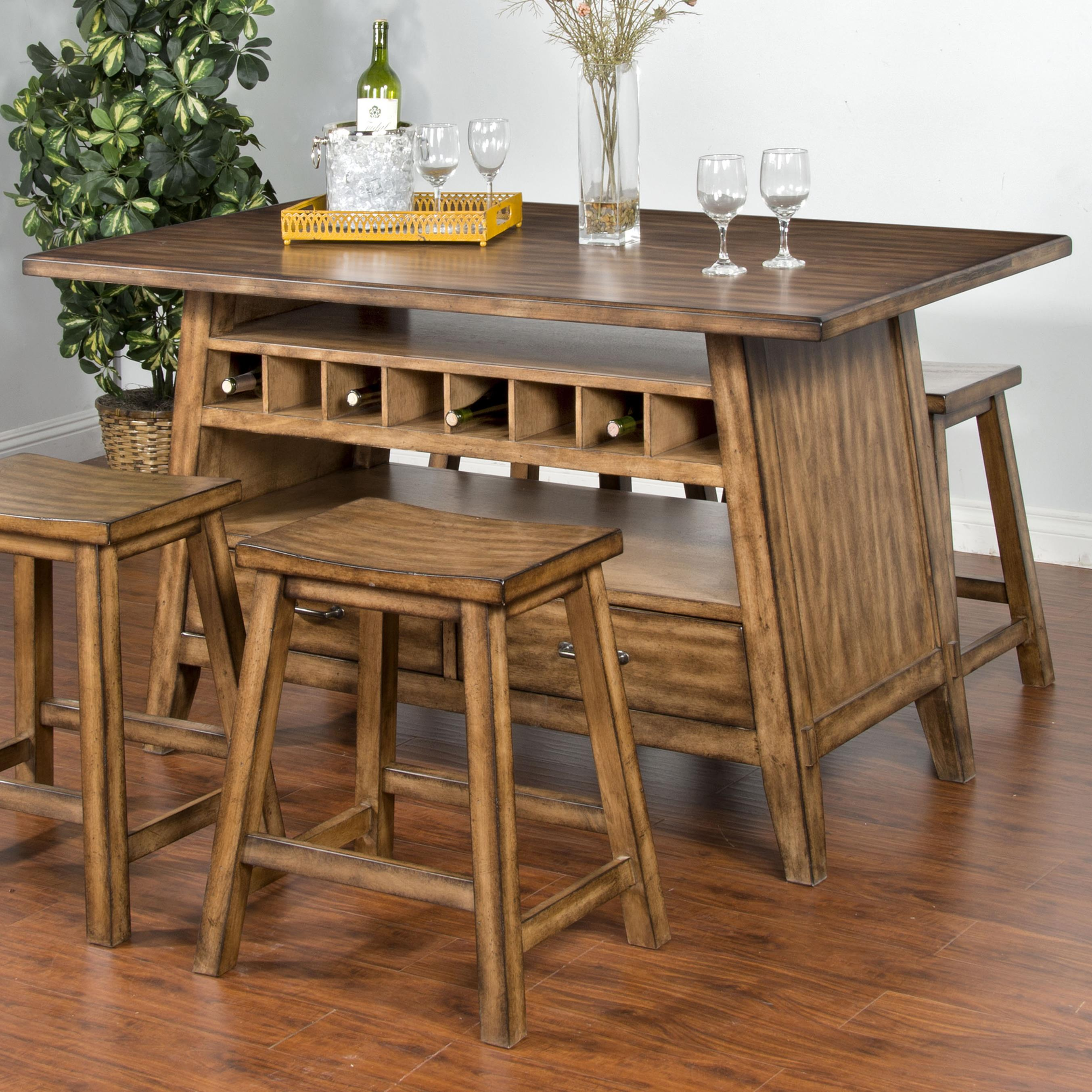 Sunny Designs Cornerstone Table with Storage Base - Item Number: 1398BM