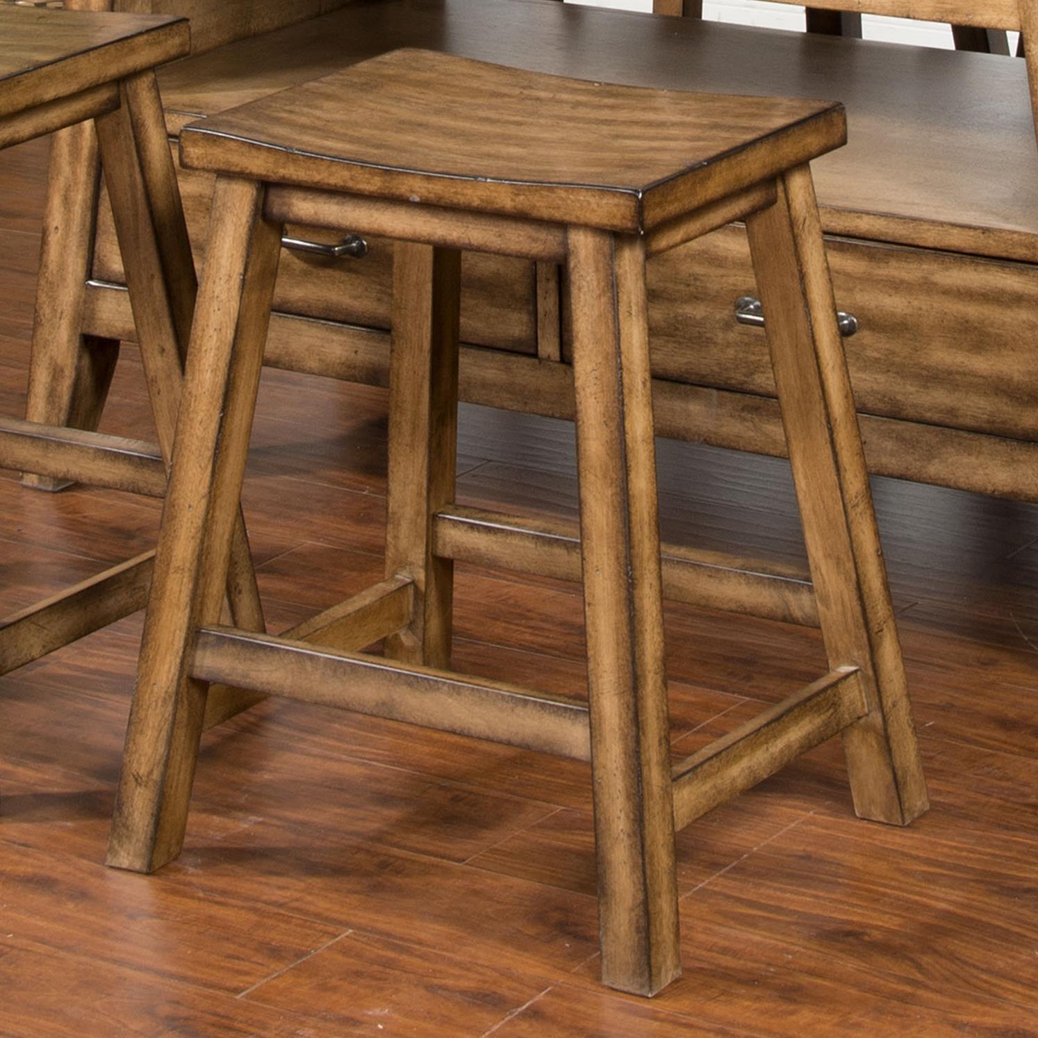 Sunny Designs Cornerstone Barstool, Wood Seat - Item Number: 1526BM-24