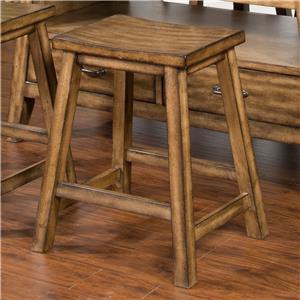 Sunny Designs Cornerstone Barstool, Wood Seat