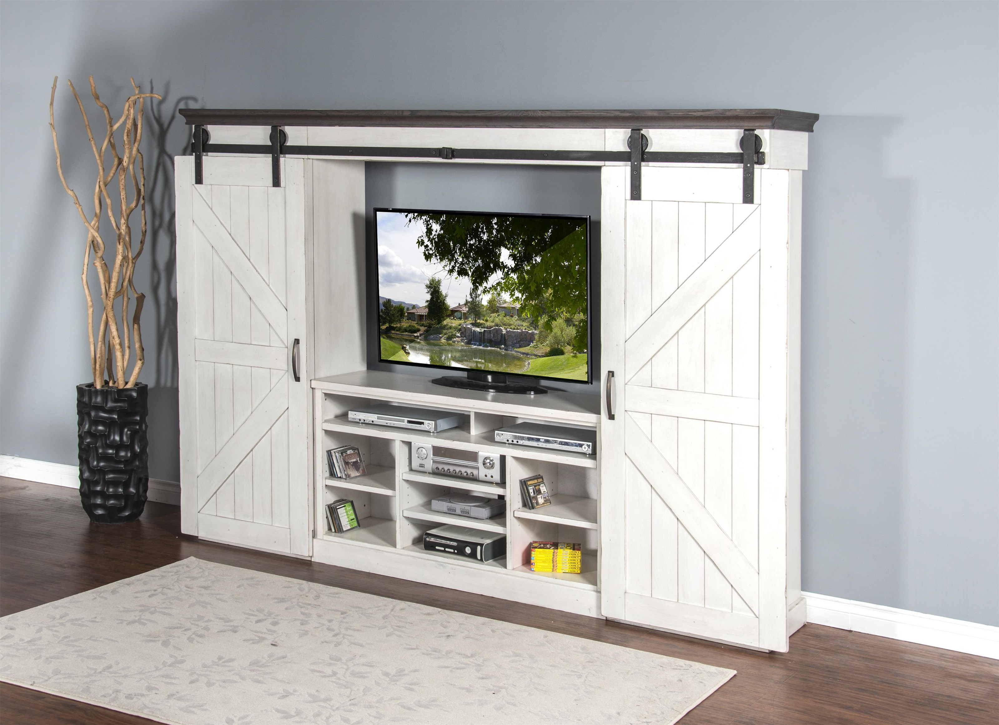 Country View 6-Piece Entertainment Wall Unit