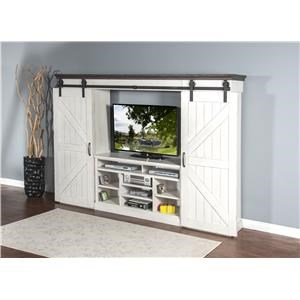 Market Square Country View Country View 6-Piece Entertainment Wall Unit