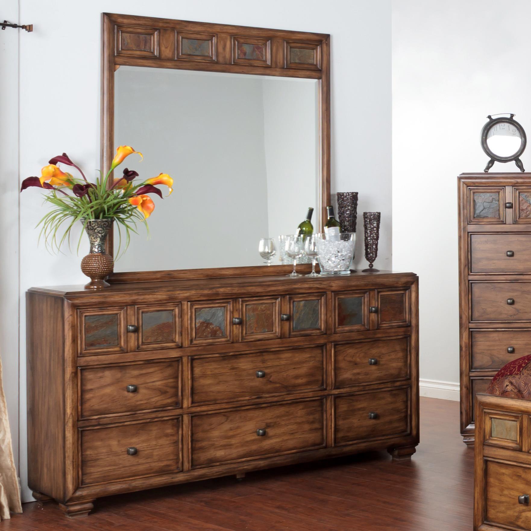 Sunny Designs Coventry Dresser & Mirror - Item Number: 2378BM-D+M