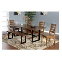 Sunny Designs Crescent Hill 6-Piece Live Edge Table Set with Bench - Item Number: 1031NM+4x1512+1441