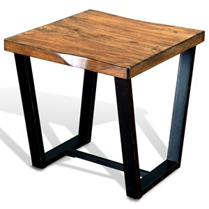 Sunny Designs Cresent Hill Live Edge End Table