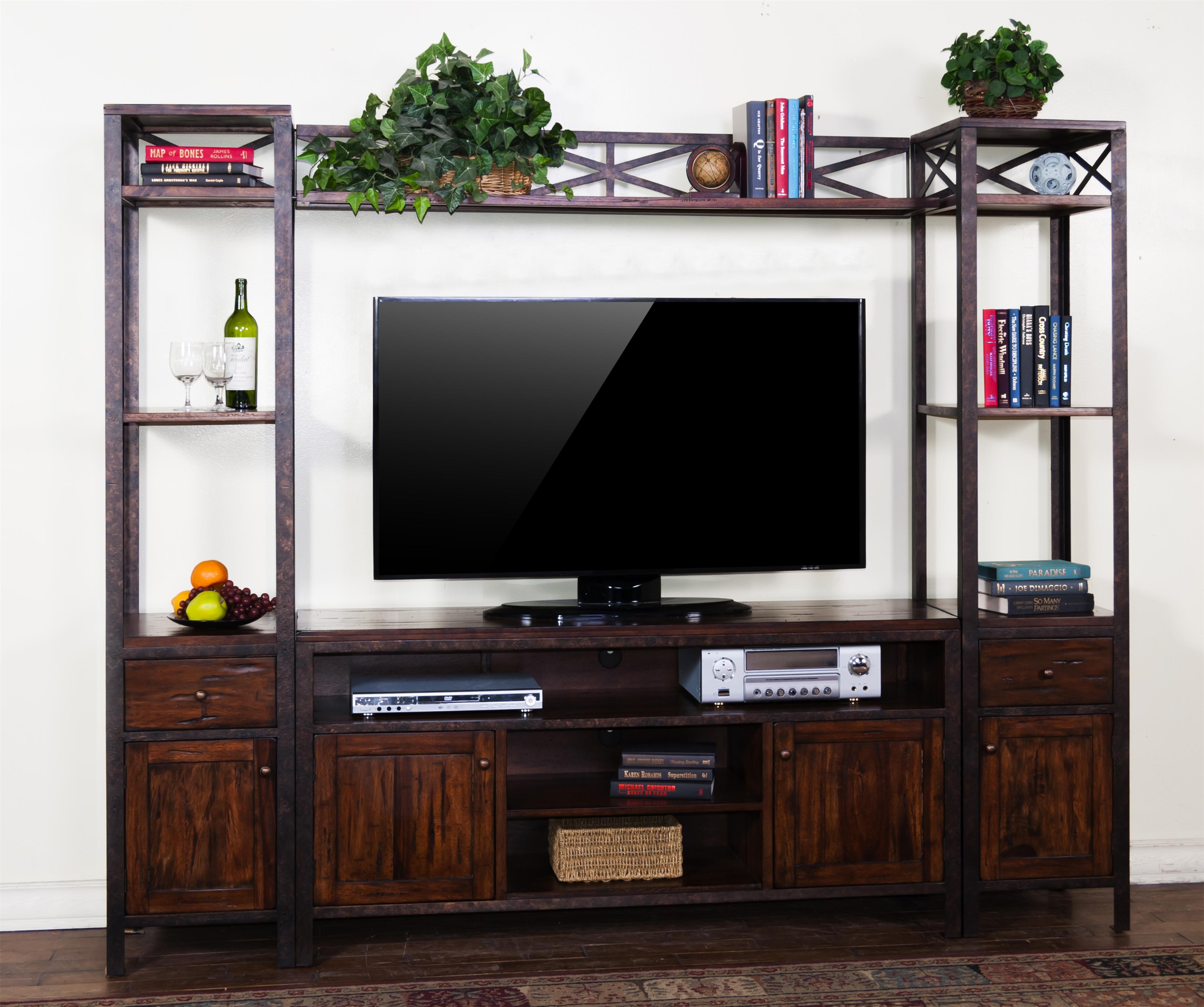 Sunny Designs Crosswinds Entertainment Wall - Item Number: 3523WM