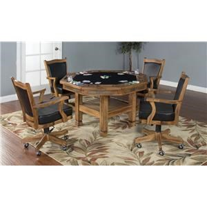 Morris Home Furnishings Elkhart Elkhart 5-Piece Game Table Set