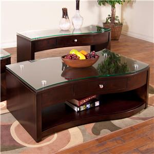 Sunny Designs Espresso Coffee Table w/ Drawer & Casters