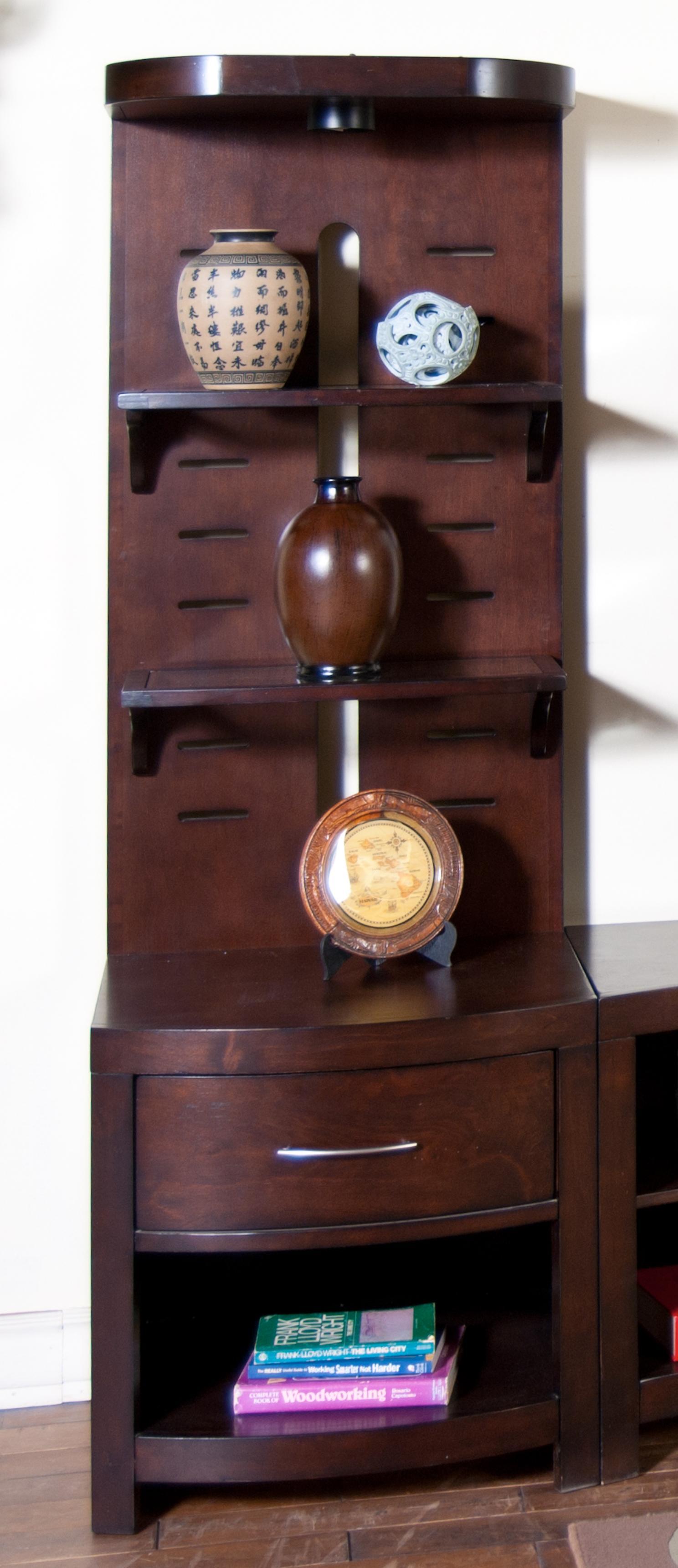 Sunny Designs Espresso Pier w/ Glass Shelves - Item Number: 3431E-P
