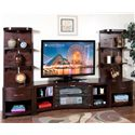 "Sunny Designs Espresso 60"" TV Console and 2 Piers - Item Number: 3431E-TC+2xP"