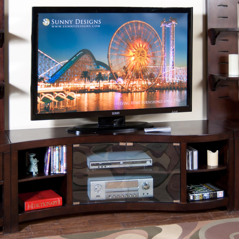 "Sunny Designs Espresso 60"" TV Console - Item Number: 3431E-TC"