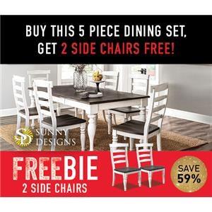 Fairbanks 5-Piece Dining Set with Freebie!