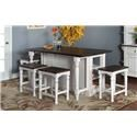Market Square Fairbanks Fairbanks 2-Piece Kitchen Island - Item Number: 357011040