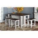 Morris Home Furnishings Fairbanks Fairbanks 3-Piece Kitchen Island Set - Item Number: 357809896