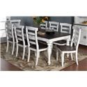 Morris Home Furnishings Fairbanks 5-Piece Dining Set includes Extension Table and 4 Side Chairs