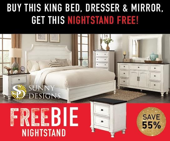 Fairbanks Fairbanks King Bedroom Package with FREEBIE! by Sunny Designs at Morris Home
