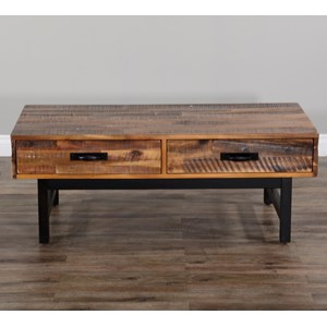 Cocktail Table (Wood Base)