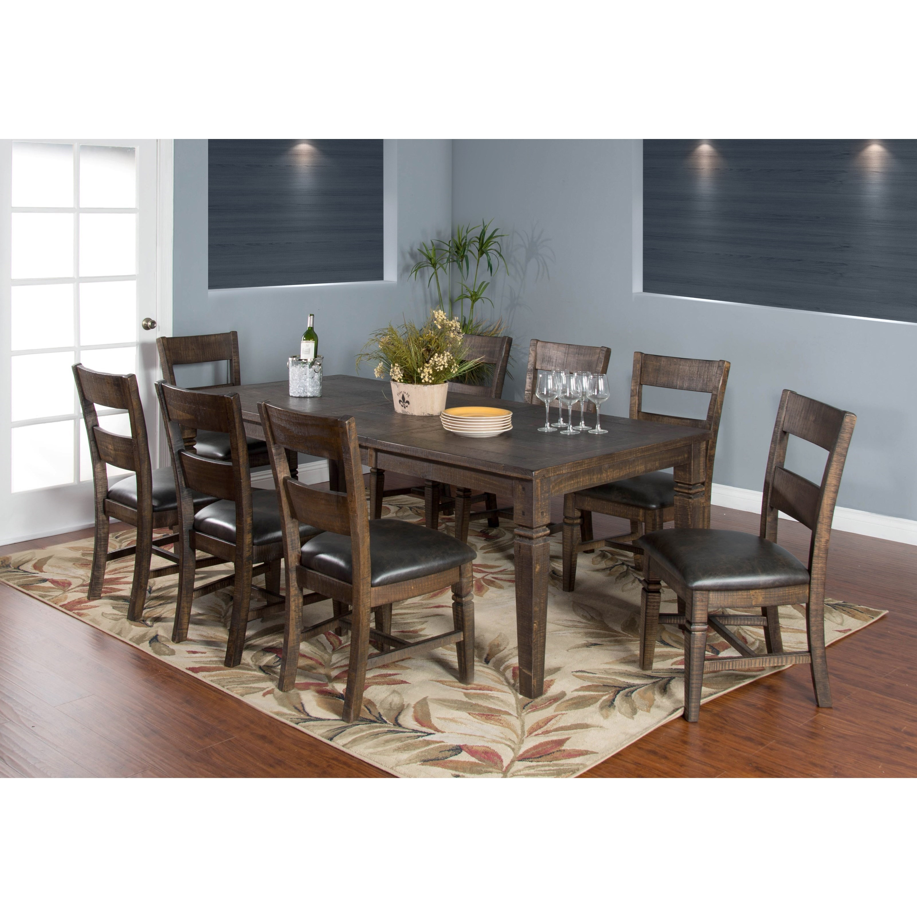 Sunny Designs Homestead 2 Dining Table Set for Eight ...
