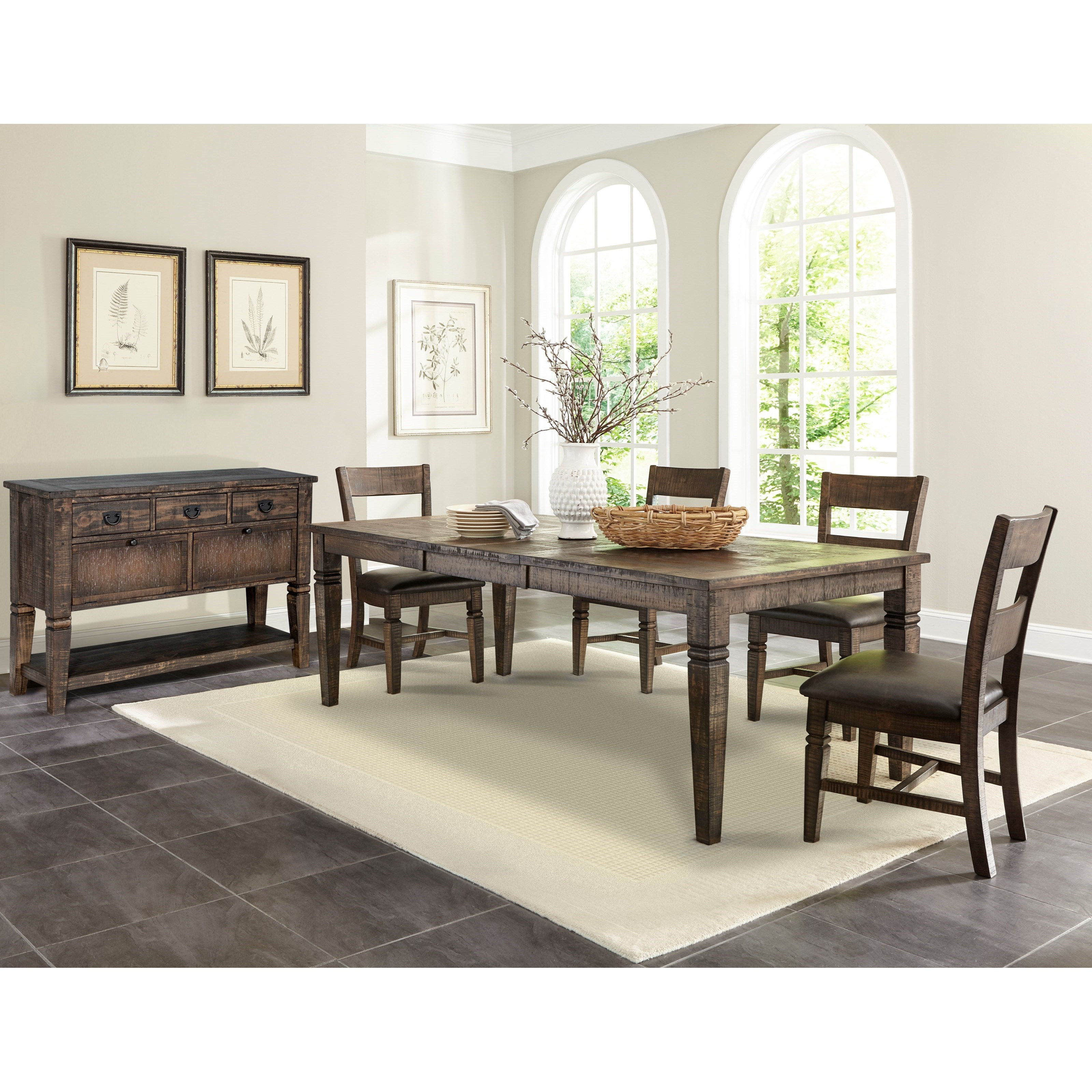 Sunny Designs Homestead 2 Rustic Extension Dining Table ...