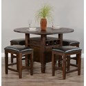 Sunny Designs Homestead 2 5-Piece Counter Table Set - Item Number: 1013TL2+4x1430TL2-24