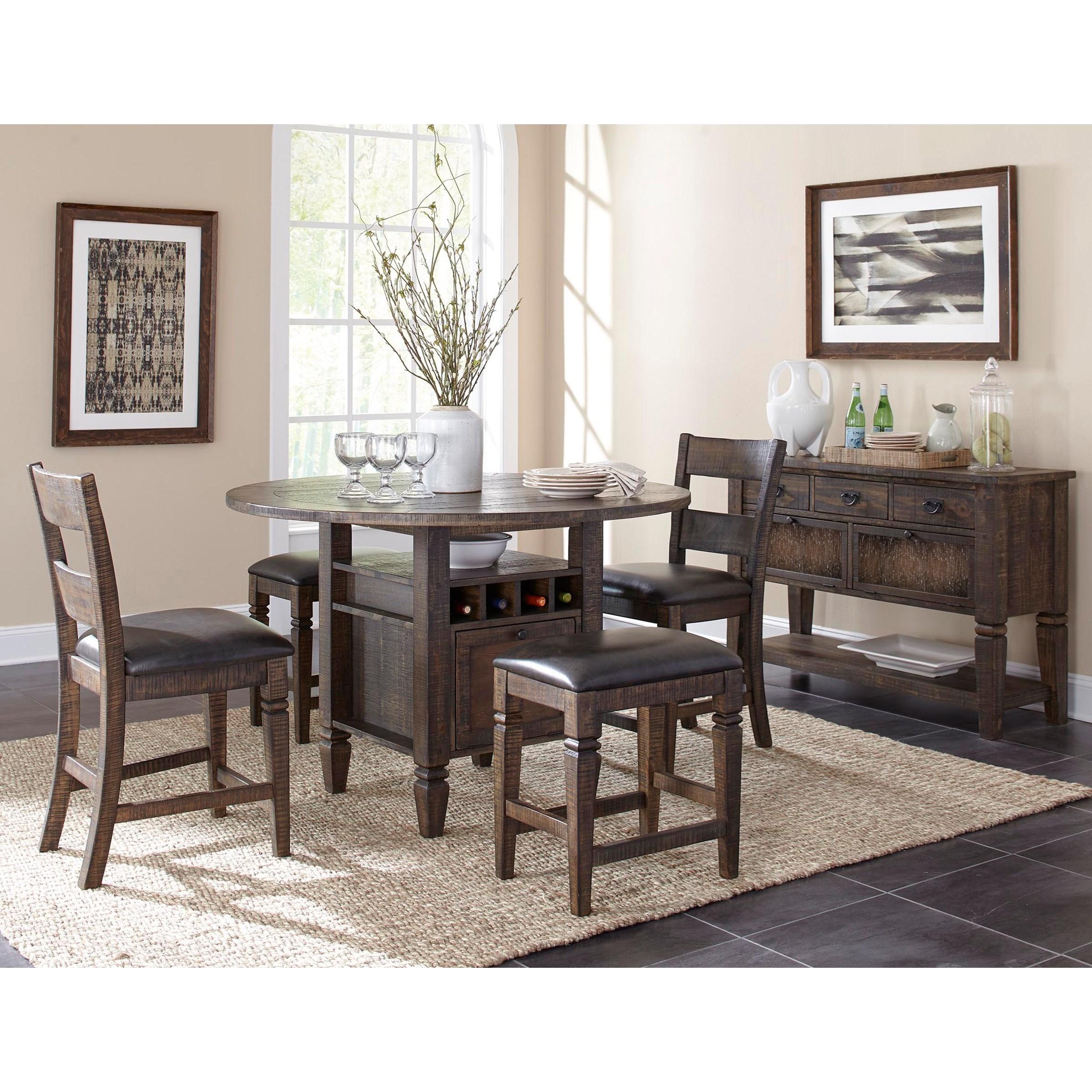 Sunny Designs Homestead 2 Solid Wood Ladderback Barstool