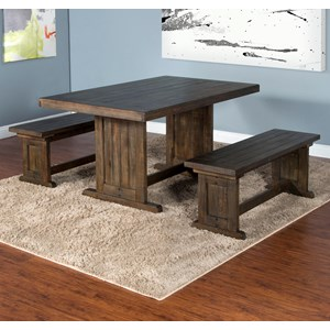 Sunny Designs Homestead Table with 2 Benches
