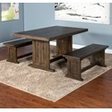 Sunny Designs Homestead Table with 2 Benches - Item Number: 0113TL-T+2xSB