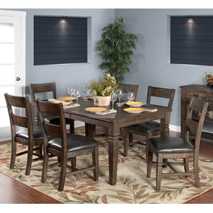 Sunny Designs Homestead 7-Piece Extension Dining Table Set
