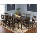 Sunny Designs Homestead 9-Piece Extension Dining Table Set - Item Number: 1012TL+8x1429TL