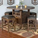 Sunny Designs Homestead 5-Piece Counter Height Table Set - Item Number: 1013TL+4x1430TL-24