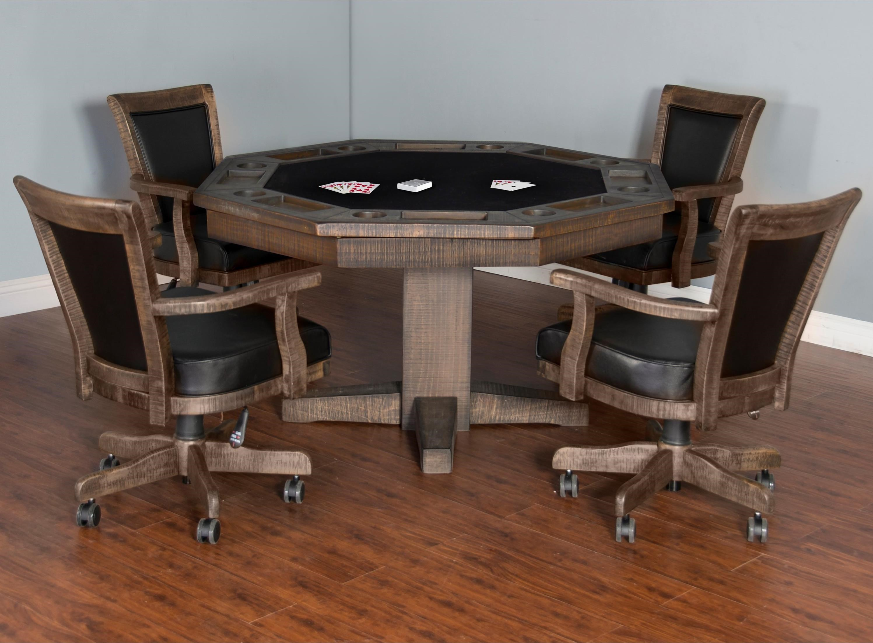 Sunny Designs Homestead Game Dining Table Set With Game