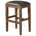 Sunny Designs Homestead Backless Stool w/ Cushion Seat - Item Number: 1430TL-30