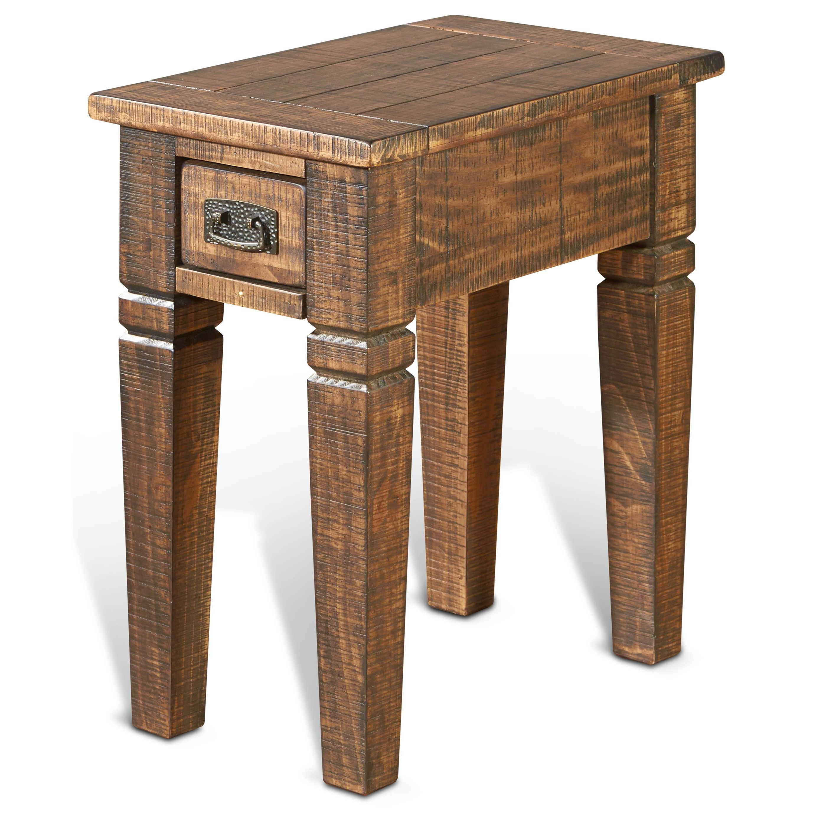 Sunny Designs Homestead Chair Side Table w/ 1 Drawer - Item Number: 3252TL-CS